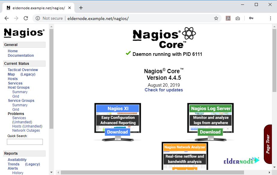 The Dashboard of Nagios
