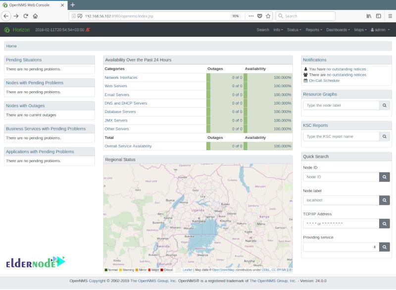 OpenNMS Admin Dashboard