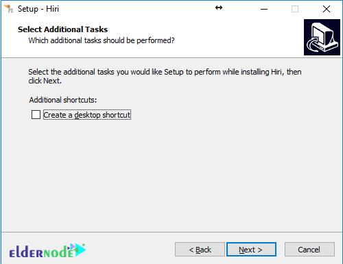 create a desktop icon for hiri