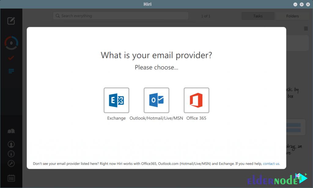 Hiri-Email-Client-environment