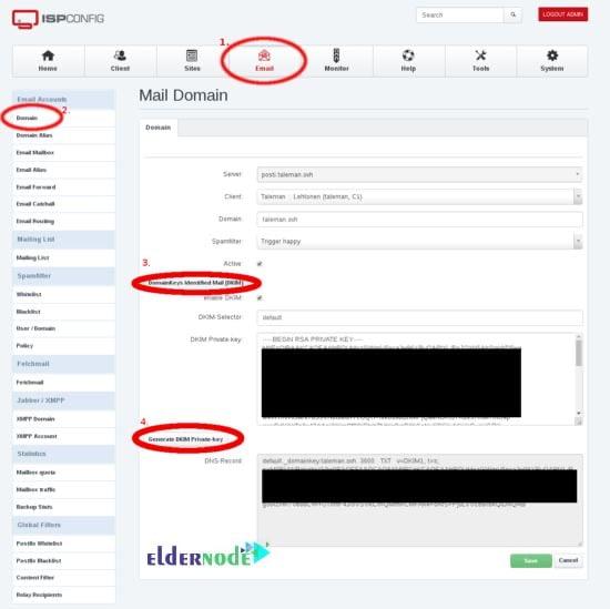 Create Mail domain