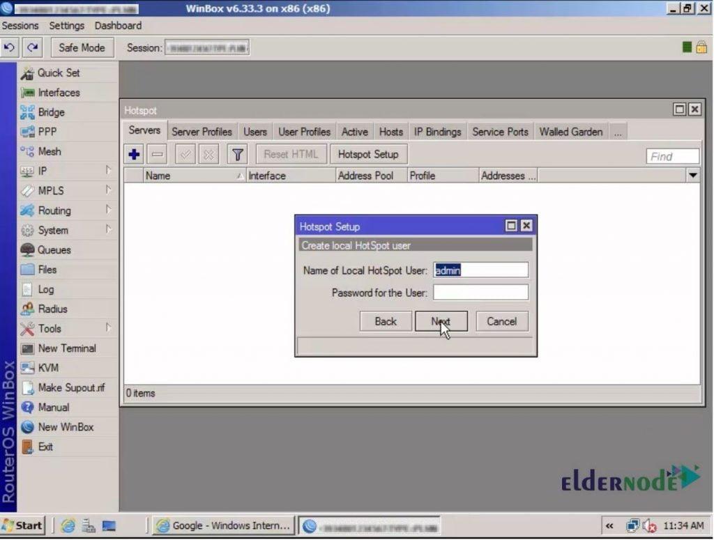 Create local Hotspot user