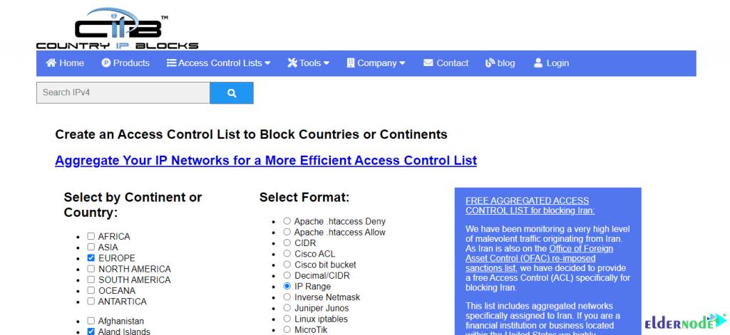 country ip blocks