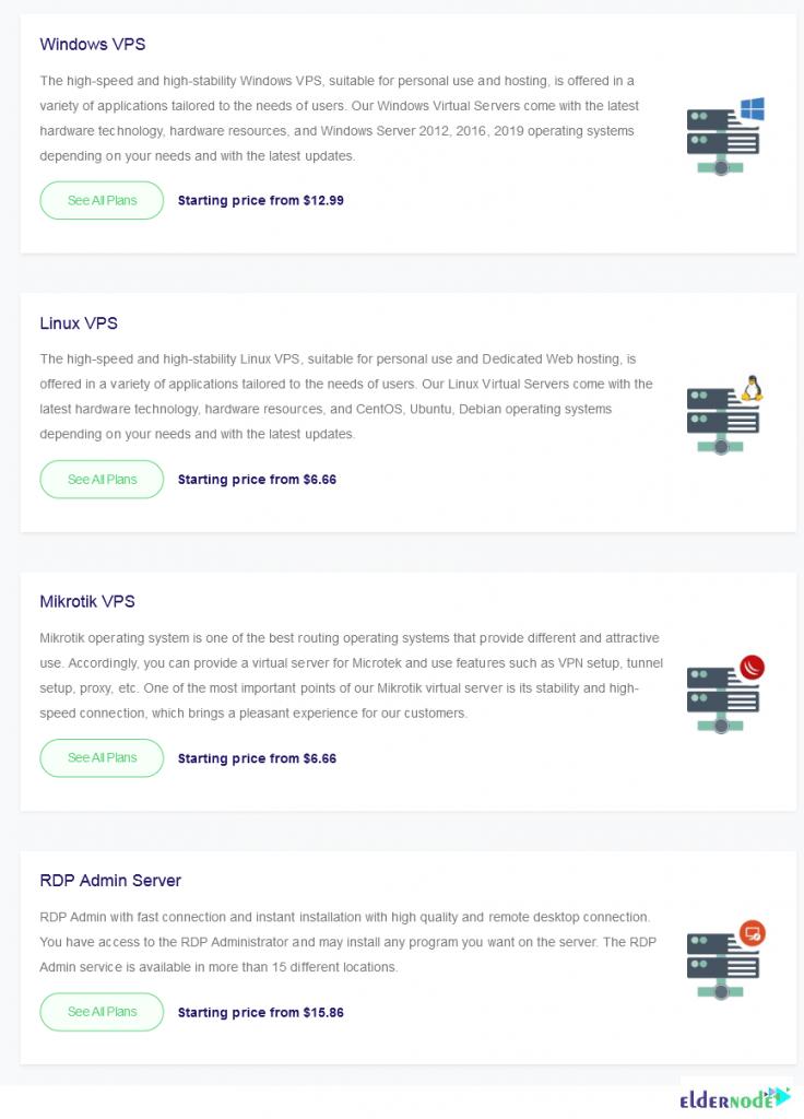 Buy hosting VPS on Eldernode