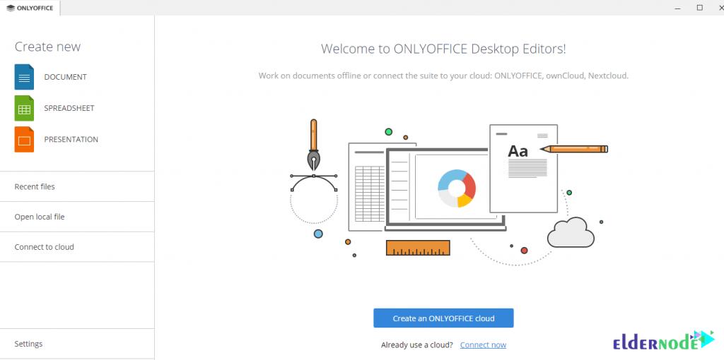 onlyoffice environment on windows 10 rdp
