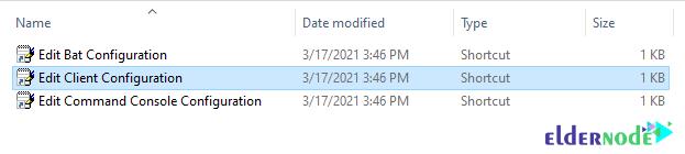 edit client configuration