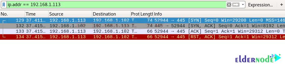 tcp scan on wireshark