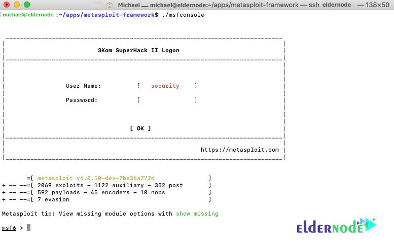 msfconsole on ubuntu 20.04