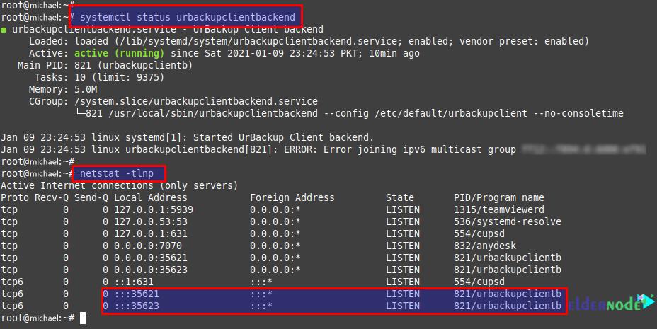 how to start urbackup client on ubuntu