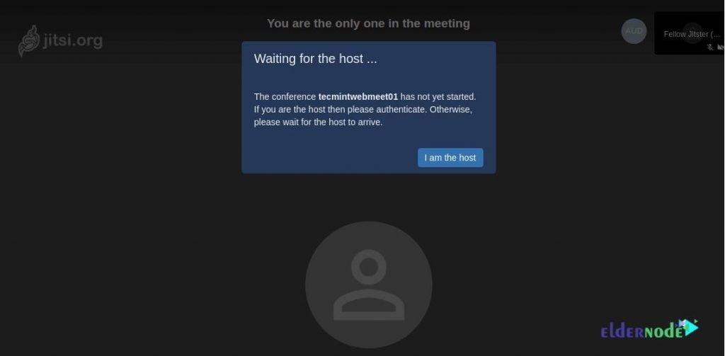 Create user in Jitsi Meet