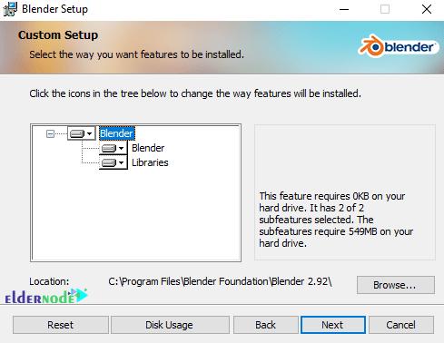 customization of installation features