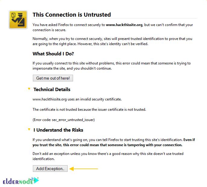untrusted connection error