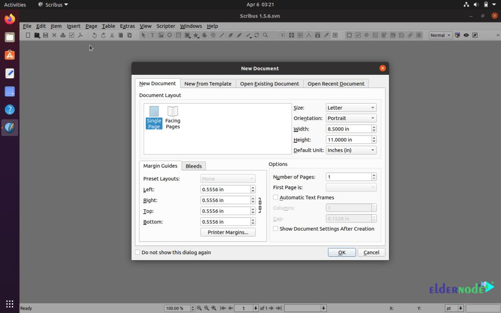 how to setup Scribus on ubuntu