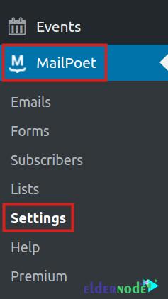 mailpoet settings