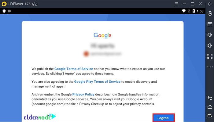 ldplayer google account agreement