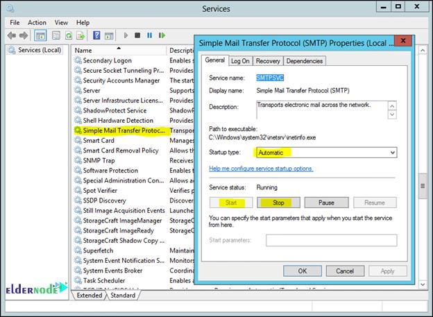 Restart the MTP Service - mail server