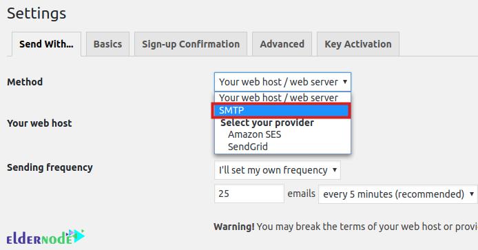 mailpoet smtp settings