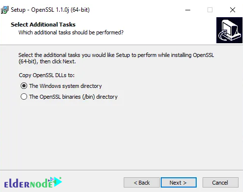 installing progress of openssl on windows server 2016