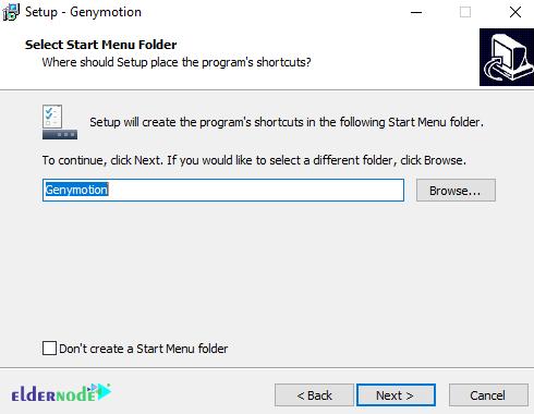 Create Start Menu Folder of genymotion