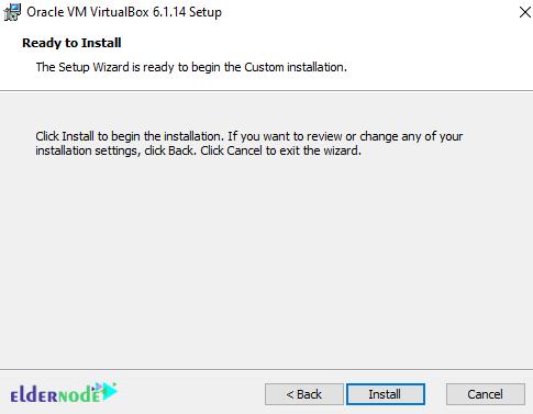 installing Oracle VM VirtualBox