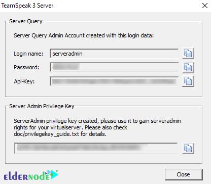 Teamspeak 3 Server login information