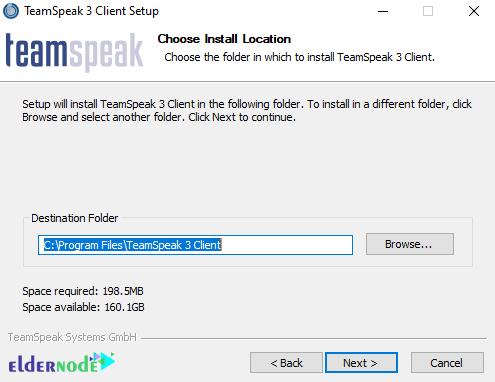 teamspeak client install destination