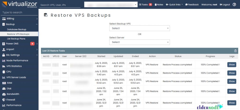 How to Restore VPS