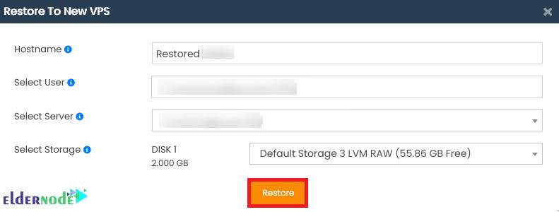 Restore to new Server