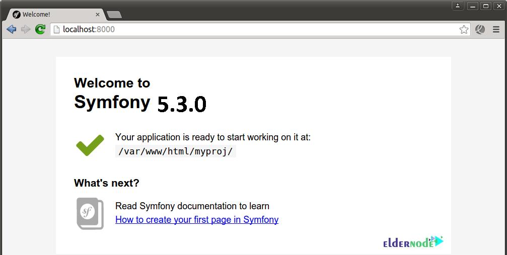 How toaccess new Symfony application on CentOS 7