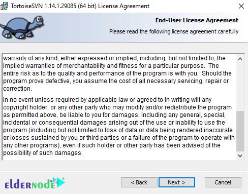 license agreement of TortoiseSVN