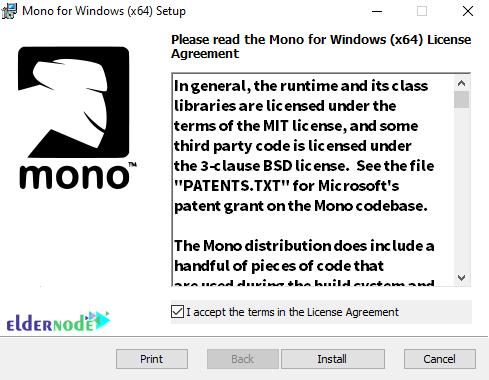 monodevelop installation agreement license
