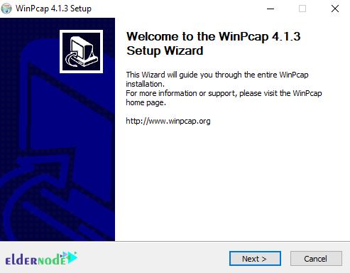 installing progress of winpcap