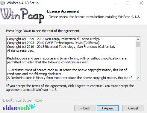 winpcap license agreement